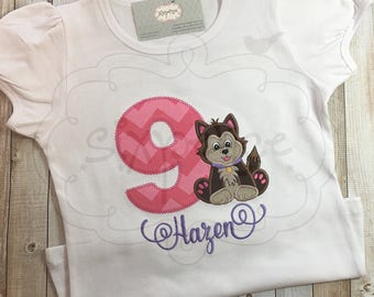 Puppy Dog Birthday | Shirt OR Bodysuit | Custom Appliquéd & Embroidered | Personalized | Doggie Shirt | Puppy Outfit | By Sixpence