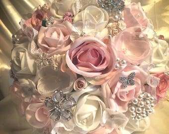 Bridal Bouquet with pale pinks