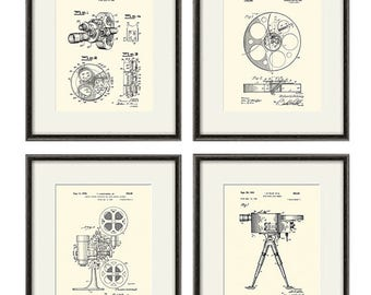 Movie Art Print patent cinema art Movie patent poster movie wall art vintage movie decor Cinema Decor Movie Camera movie room decor Film art
