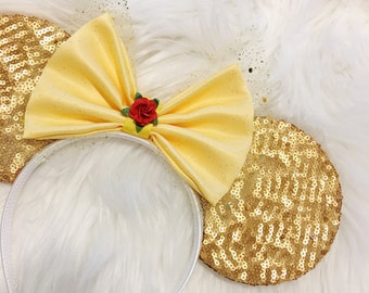 Belle Inspired Sequin Mouse Ears