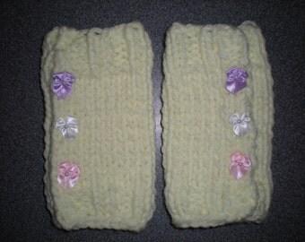 Baby Legwarmers, Handknit Toddler Legwarmers, Infant Legwarmers, Baby Yellow Legwarmers, Baby Knit Leg Warmers