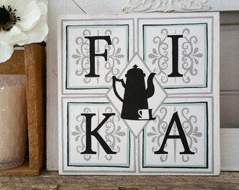 Fika - Swedish Coffee Sign