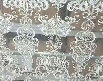 white lace fabric ,wedding lace ,grass and Palace  embroidery lace