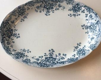 "W. Hulme, Reliable, Burslem, England, ""Maine"" Platter."