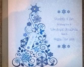 Handmade Personalised Luxury Christmas Card
