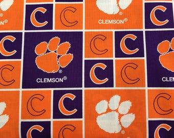 Clemson Fabric Etsy