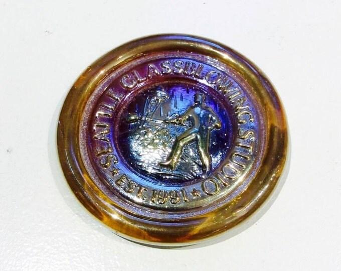 Seattle Glassblowing Medallion