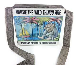 """Where the Wild Things Are Messenger Bag, Monster gift, Monster bag, Gift for Max, Bookish gift, Maurice Sendak, """"Let the wild rumpus start!"""""""