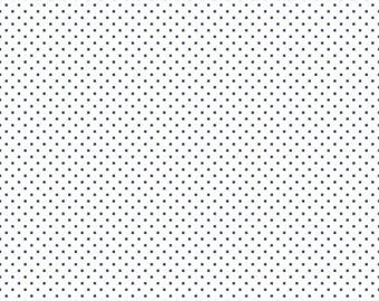 Swiss & Dots fabric, Riley Blake Designs, Swiss Dot on White Navy (C660-21 NAVY) -- By the Yard