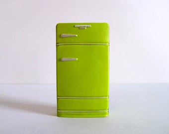 Vintage Dollhouse Refrigerator Magnet in Lime Green
