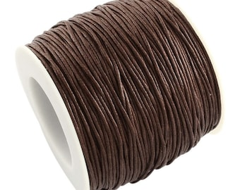 30ft Dark Brown Wax Cotton Cord Bracelet Necklace Cord 1mm (No.304)