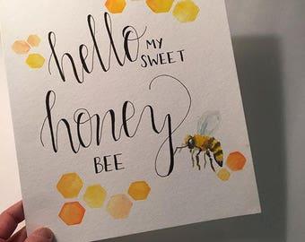"Sweet Honey Bee - 8"" x 10"" print"