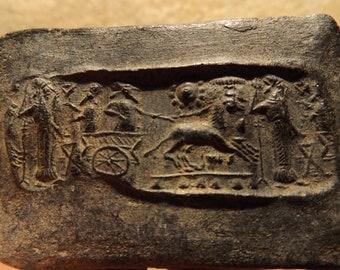 Mesopotamia - Chariot - Cylinder seal impression - Elamite invasion of Babylon