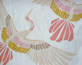 Fabric - Marabou mosaic bird print - off white - 100% cotton lawn - woven fabric