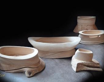wooden bowl, set of wooden bowls, freeform wooden bowl, wooden bowl set, artistic bowl, handmade wooden bowl