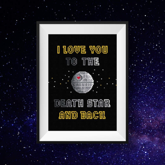 Star Wars Love Quotes Best Modern Cross Stitch Pattern  Star Wars Cross Stitch Pattern