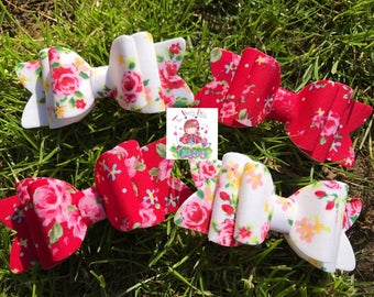 Shabby chic floral bows