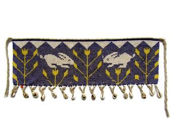 Belt; Antique Belt, Antique Glass Beaded Belt with Seashells