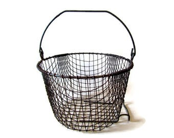Basket; Antique Wire Basket
