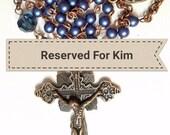 Reserved for Kim: Something Old, Something New, Something Blue Rosary