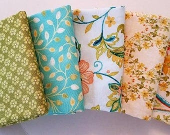 Fabric Bundle of Aria from Benartex.  5 different fabrics
