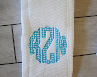 Personalized boy baby gift - Embroidered burp cloth set - Monogrammed Baby Gift - Monogrammed Baby Shower