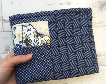 Unique Cat Design 100% Hand Quilting Pouch
