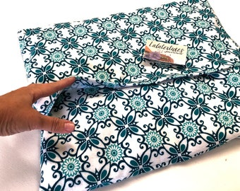 "Plaid FLAX HEATING PAD,  Microwavable, hot cold pack,  Choice of  large heating, 16 X 20 in XXl  heating pad, Flax seed Bag, ""The Flax SaK"""