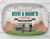 Personalized Melamine Airstream Platter, Personalized Camping Serving Platter, Glamping Camper Decor, Airstream Decor