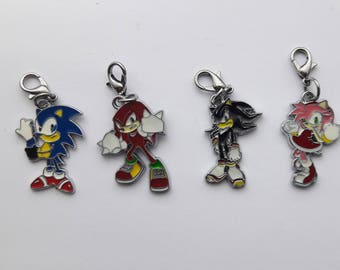 Sonic the Hedgehog Enamel Charms - Sonic, Knuckles, Shadow, Amy Rose