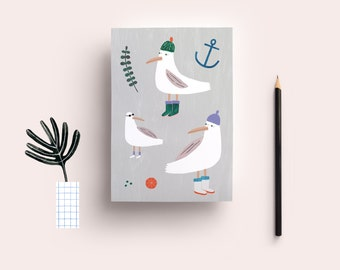 Postcard» sea gull»