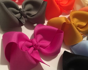3-inch bows, bundle of 20 bows- You pick colors (listed in description)!