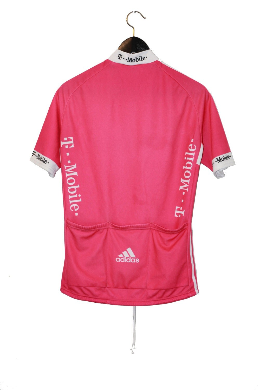 Adidas Vintage Pink Cycling T Shirt Vintage Clothing