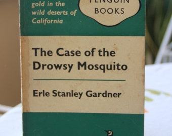 A striking 1960s Penguin paperback edition of Erle Stanley Garner's  classic  The Case Of The Drowsy Mosquito