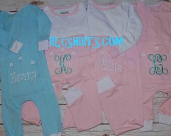 Button Flap Pajamas. Monogrammed Pajamas. Button Bottom Flap Pajamas. Monogrammed Flap Pajamas. Spring Pajamas. Easter Pajamas.