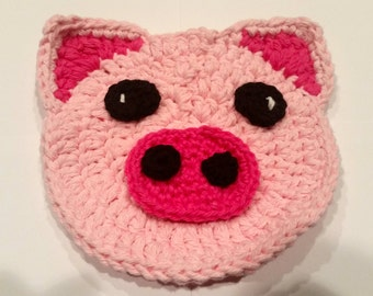 Set of Two Pretty Pink Piggy Piggy Pot Holders