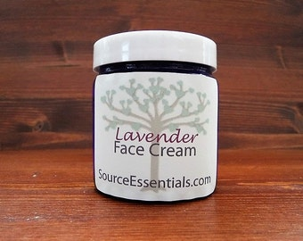 LAVENDER Face CREAM Thick and Rich, Ultra- Hydrating, All NATURAL Unscented/ Lavender/  Chemical Free