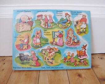 Vintage children's jigsaw. Nursery rhyme characters 1977.