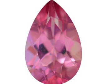 Mystic Charisma Pink Quartz Pear Cut Loose Gemstone 1A Quality 9x6mm TGW 1.25 cts.