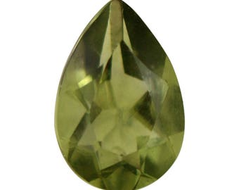 Moldavite Loose Gemstone Pear Cut 1A Quality 6x4mm TGW 0.20 Cts.