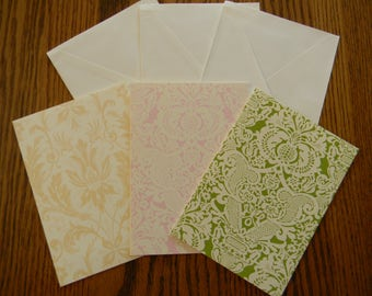 Set of 3 Anna Griffin Card Bases With Envelopes (204)