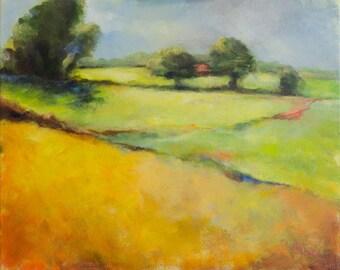 Impressionistic Landscape in bright colors