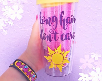 Long Hair Don't Care Acrylic Tumbler
