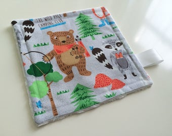 Baby lovey, Baby comforter, Minky baby lovey, Minky baby comforter, Bears baby lovey, Baby boy lovey, Baby boy gift, Baby shower gift