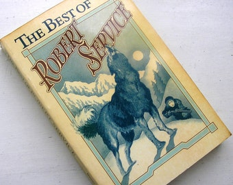 Vintage poetry book The Best of Robert Service British Canadian poet 1970s paperback book poems poetry 232