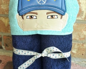 Coast Guard hooded towel, personalization included