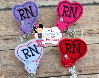 RN badge reel, Medical badge reel, RN ID badge holder