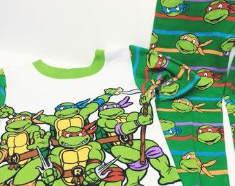 Insulin pump pj set / ninja turtles/ size 4T