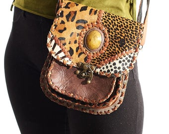 Gypsy Handbag,Hippie Bag,Leather Bag,Burning Man,Cross Body Bag,Boho Chic Messenger,Purse,Totes Bags,Unique Gift For Women,Shoulder Bags.