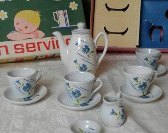 Les enfants en porcelaine vintage, service, de café, années 60